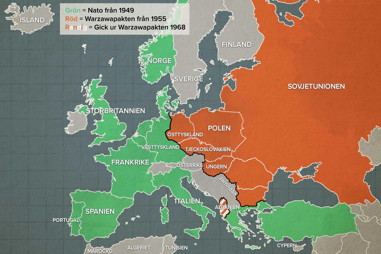 Europakartan Efter Andra Varldskriget